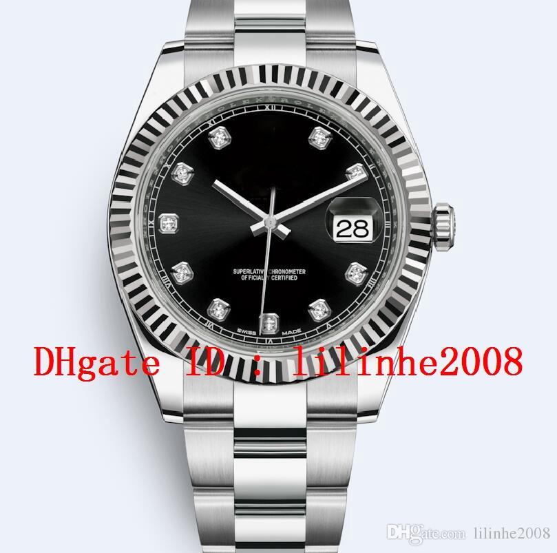 9 estilos de homens relógio 41 milímetros Presidente Dia Data-116334 126333 126300 126331 diamante Dial 2813 Automatic calendário fecho dobrável Mens Relógios