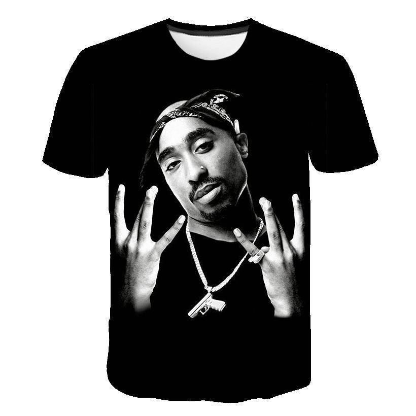 Nuovo arriva Hip Hop stile estivo Rapper 2pac Tupac divertente 3D Stampa Moda Uomo T camicia delle donne supera il trasporto libero XR081