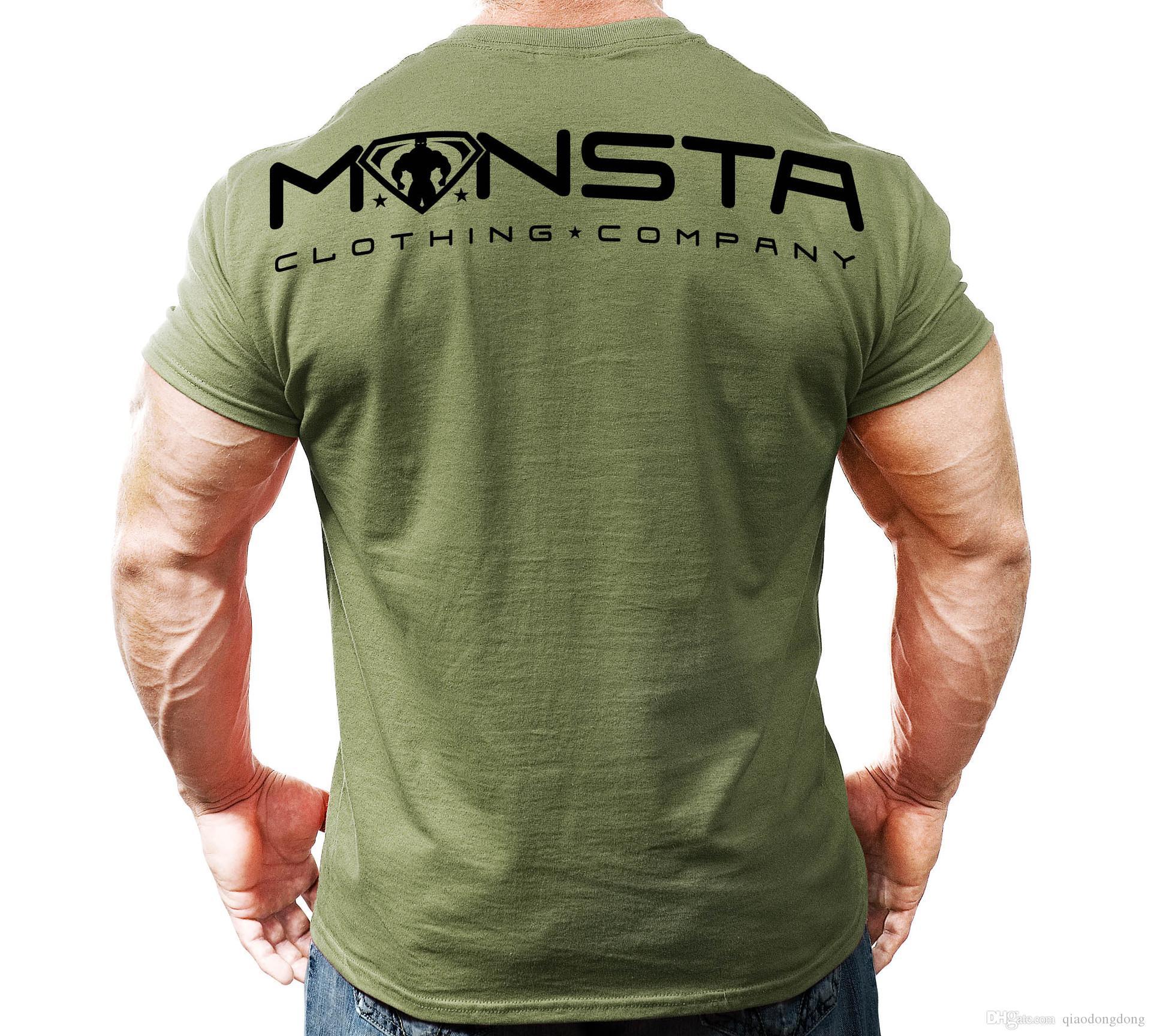 2019 gym neue sport muskel fitness individualität großen druck männer baumwolle elastizität training t-shirt komfortabler druck superman