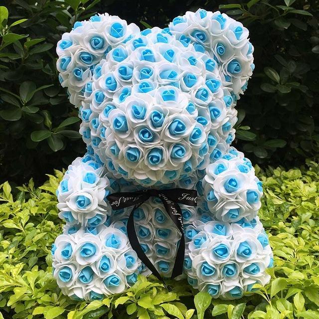 Decoração do casamento Rosas presente do dia Urso Rose 2020new 40CM Teddy Bear Artificial espuma Flores Urso Presente para Namorados
