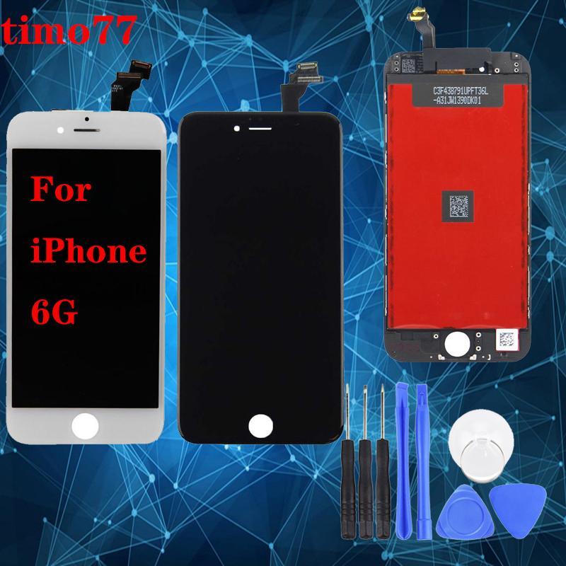 Супер качество для iphone 6 6G полный полный ЖК дисплей дигитайзер сенсорный экран в сборе с рамкой мелкие детали для iPhone6 4,7 дюйма