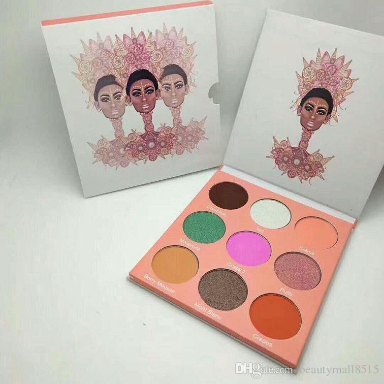 Stokta Yeni Douse Göz Farı Paleti 9 Renkler Doğal Matteshimmer Göz Pigmentli Preslenmiş Gölge Toz Makyaj Toptan Ücretsiz Shiping