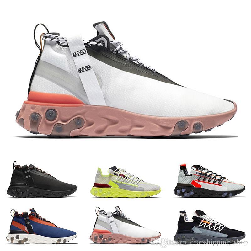 새로운 도착 반응 WR ISPA 남성 여성 운동 신발 유령 아쿠아 늑대 회색 플래티넘 볼트 정상 회색 화이트 망 트레이너 패션 스포츠 스니커즈