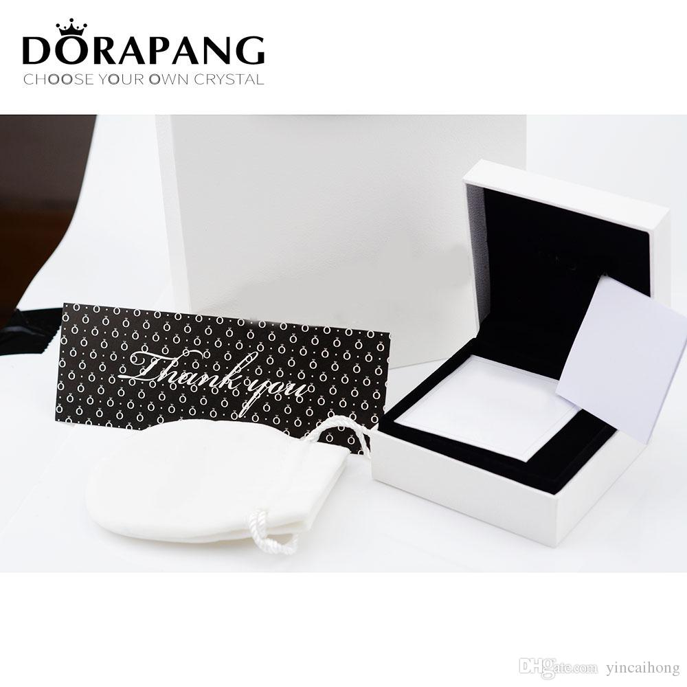 NUOVO cristallo genuina di modo di fascino per il braccialetto box set Donne originale fascino di compleanno gioielli scatola regalo fabbrica all'ingrosso