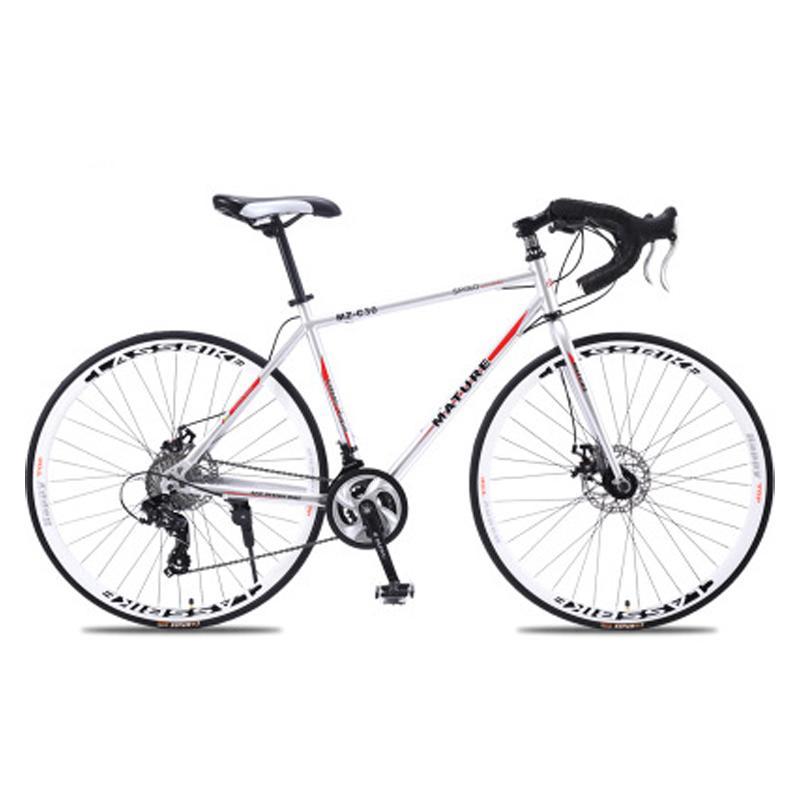 Bicicleta de montaña 700c aleación de aluminio bicicleta de carretera 21 27and30speed camino de la bicicleta de dos discos de bicicleta de carretera de arena ultra-ligeras bicicletas de montaña de la bicicleta
