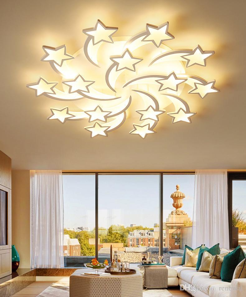 New Pendant Lamps LEDs Chandelier Modern stars For Living Room Bedroom remote/APP support Home design chandelier model