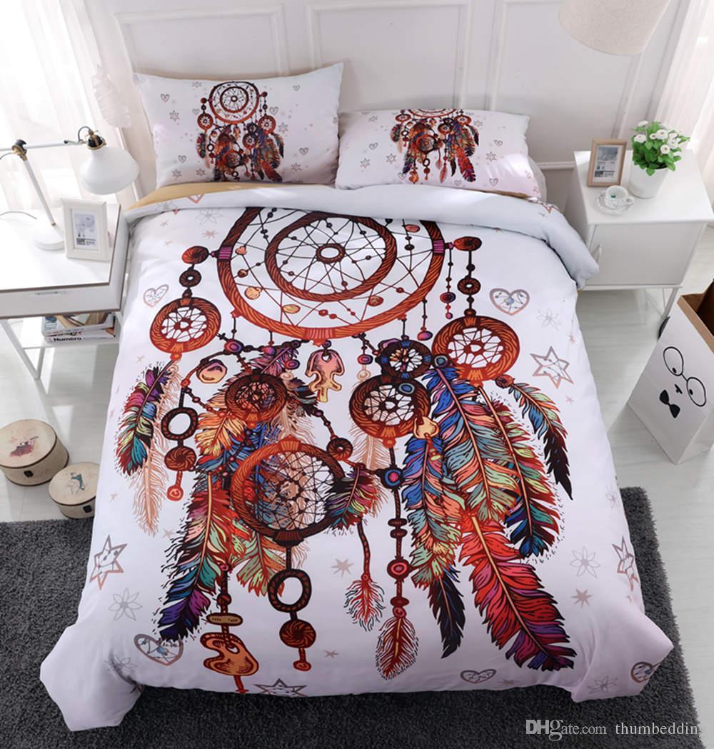 Set Per Letto Matrimoniale.Acquista Thumbedding Unico Dreamcatcher Red Bedding Set Letto