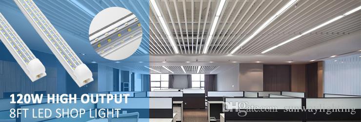 6500K LED Tube свет 4ft 5ft 6ft 8ft V Форма Встроенный LED трубки 4 5 6 8 футов Cooler двери морозильной камеры LED освещение