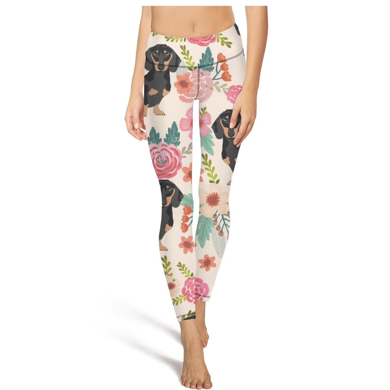 Rottweiler Hund mit amerikanischem FlagFashion Damen Design Yoga Pants Keine beiläufigen Füße weich geeignet für Trainings-Flag Doxie Dackel Wiener