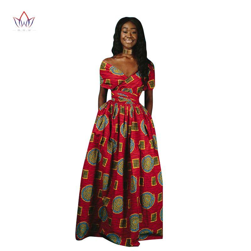 Длинные африканские платья женская традиционная африканская одежда Dashiki Ankara платье повязки макси несколько носить одежду печати WG125