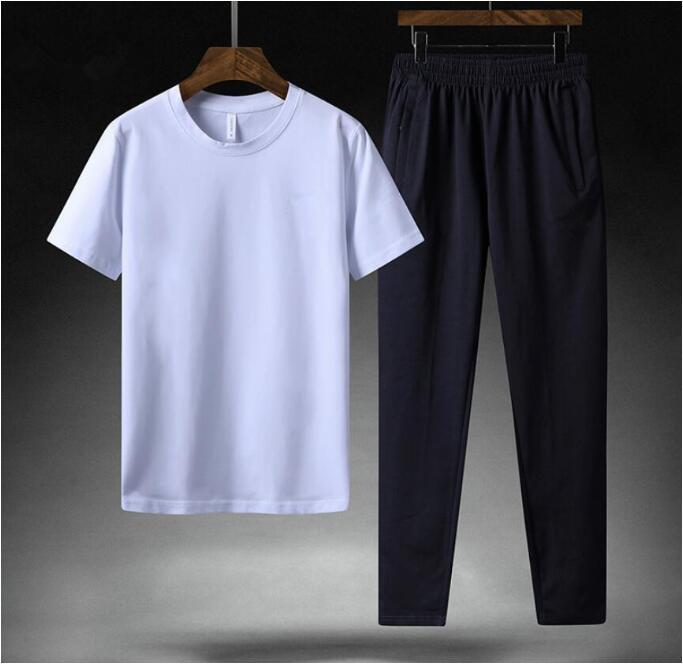 2020 Yeni FA5015 koşu pantolon erkek kısa kollu spor spor giyim 2 adet / erkek tişört spor Giyim kümesi