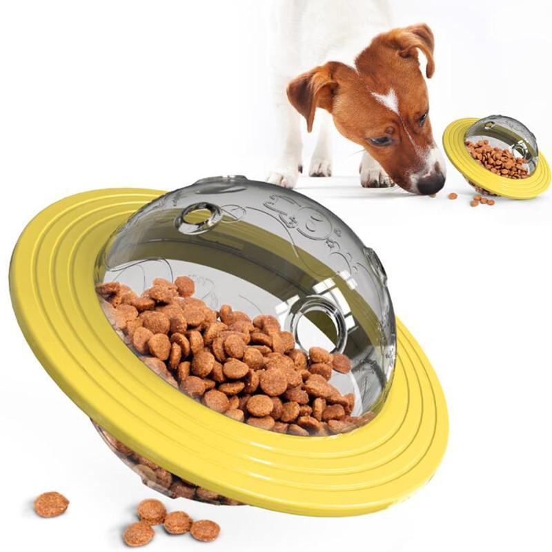 الحيوانات الأليفة لعبة الكرة دغة المقاوم إضافة لغز التفاعلية لعبة الصحن الطائر الحيوانات الأليفة الكرة الغذاء شو لعب مناسبة لالقطة والكلب ألعاب