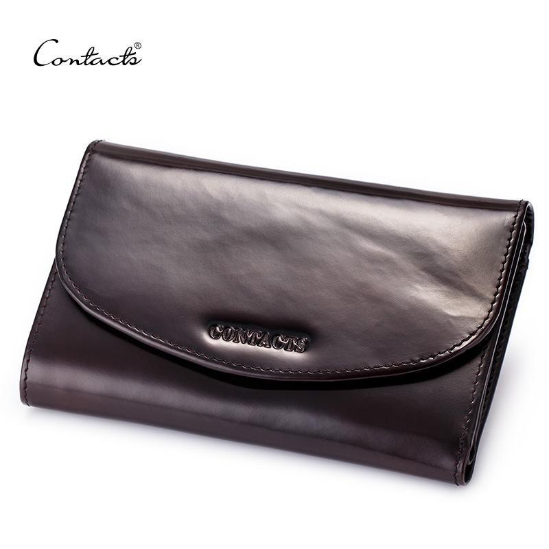 디자이너 - 남성 지갑 패션 디자인 빈티지 진짜 가죽 신용 카드 홀더 클러치 지갑 긴 지갑 라벤더 커피