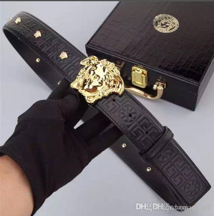 Fashion Marke Gürtel, Luxus entworfen Freizeit Gürtel für Männer und Frauen, Gold und Silber Schnalle Gürtel glatt, 4.0cm wide.High Qualität