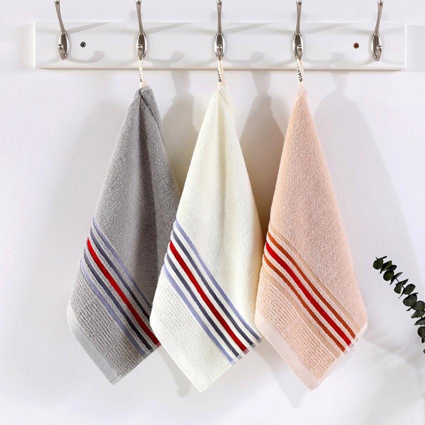 Handtuch-Set Stripe Solid Color Cotton Beauty Gesichts-Haar-Tuch-Bad-Handdusche Spa Home Hotel für Erwachsene Serviette De Bain