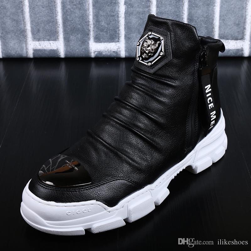 Herren Schuhe Designer-echtes Leder-Winter-Warmhalten im Freien Ankle Boots Schnee-Aufladungen beiläufige Turnschuh-6 # 20 / 20D50
