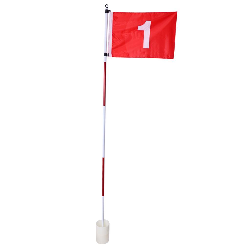 Backyard Practice Golf Cup Hole Флаг Стик поляк, зеленое поле для гольфа флагшток, идеальный подарок для игроков в гольф