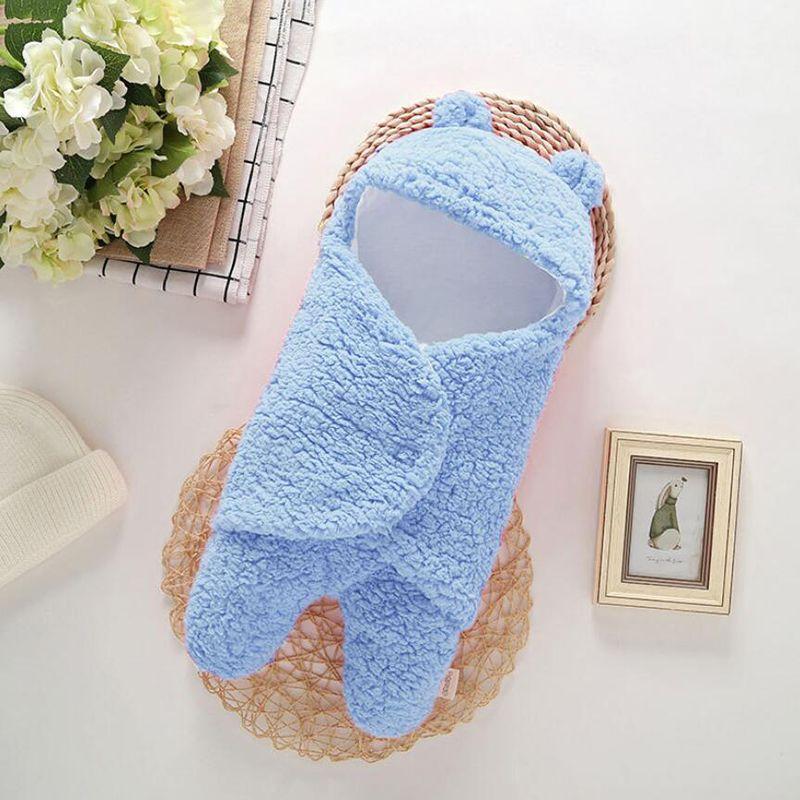 Sac de couchage pour bébé Enveloppe du nouveau-né bébé Automne Hiver Swaddle Blanket Wrap sommeil mignon poche SleepSack Literie unisexe