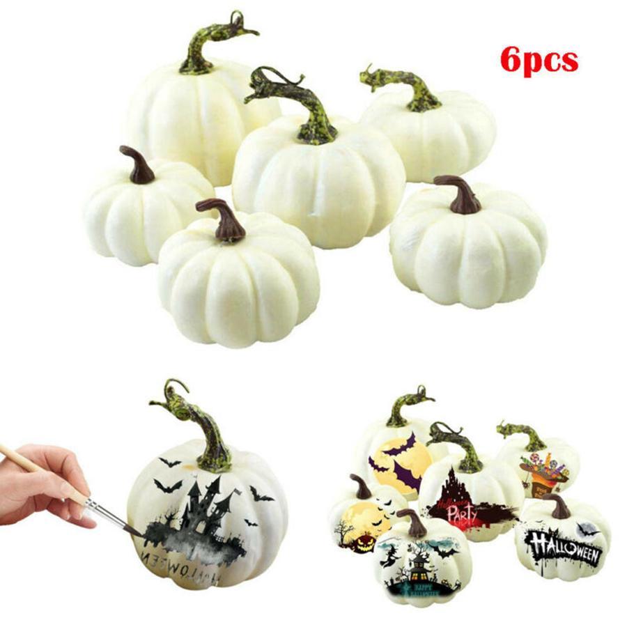 12шт / набор мини Simulation тыква DIY Творческой пена Halloween Party украшение сад Craft благосклонность партия RRA2071