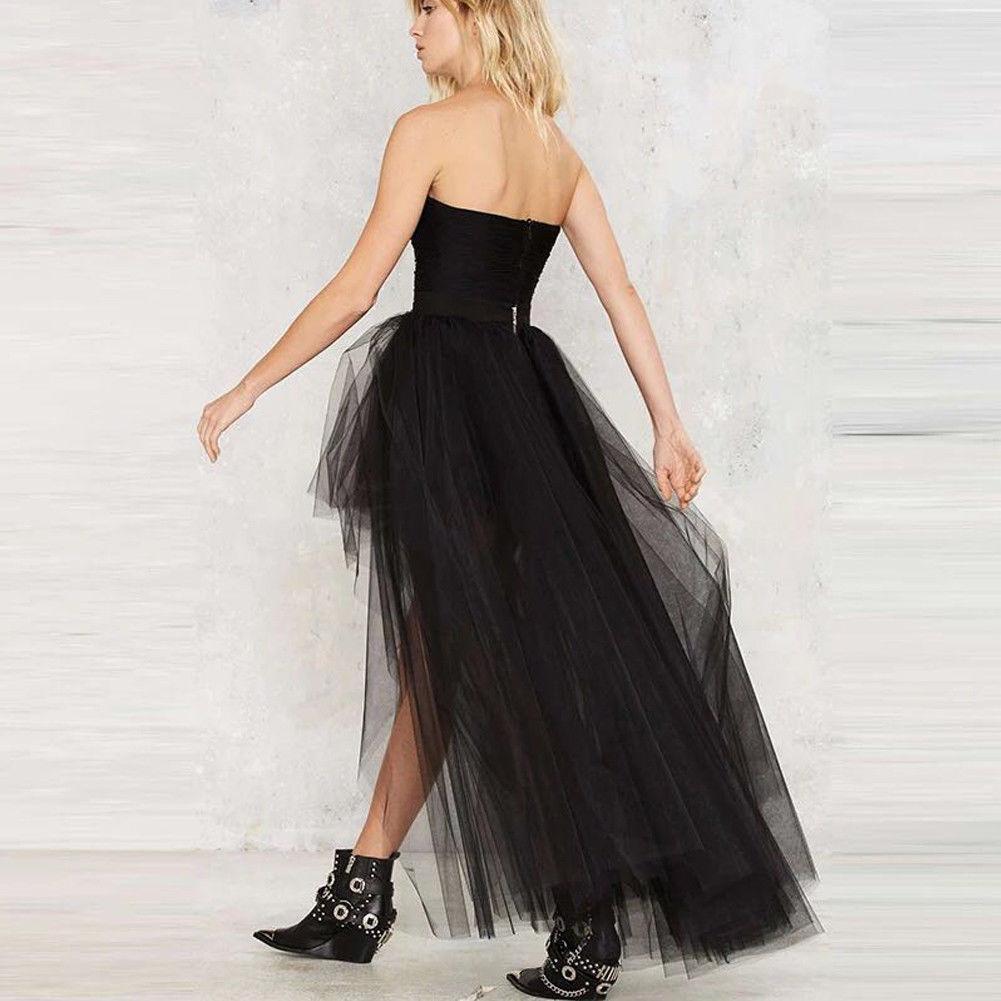 Hirigin 2018 핫 Women Black Dovetail 긴 푹신한 Tu Tutu 신부 Sexy 층 길이 긴 맥시 Tutu Dress (High)