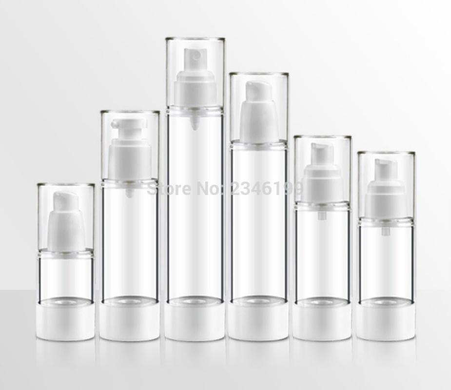 Dewarflask plastica flacone spray trasparente Emulsione bottiglia della lozione Vacuum Pump Spray Viaggi imbottigliamento 20pcs / Lot