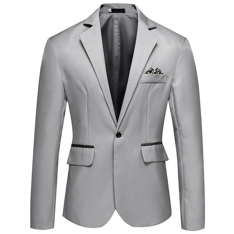 Slim Fit Suit Men Casual Blazers Tendência marca dos homens Fashion Business Vestido Blazer masculino
