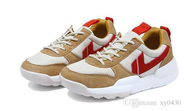 marca de costura malla zapatos hombres zapatillas de deporte de los astronautas salvajes otoño par de mujeres de los hombres zapatos planos ocasionales de los zapatos corrientes A244 3A