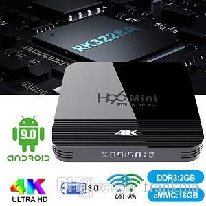 더 나은 MXQ 상자에 비해 안드로이드 9.0 TV 박스 H96 미니 H8와 RK3228A 8기가바이트 / 16기가바이트 듀얼 와이파이 지원 블루투스 및 디지털 디스플레이