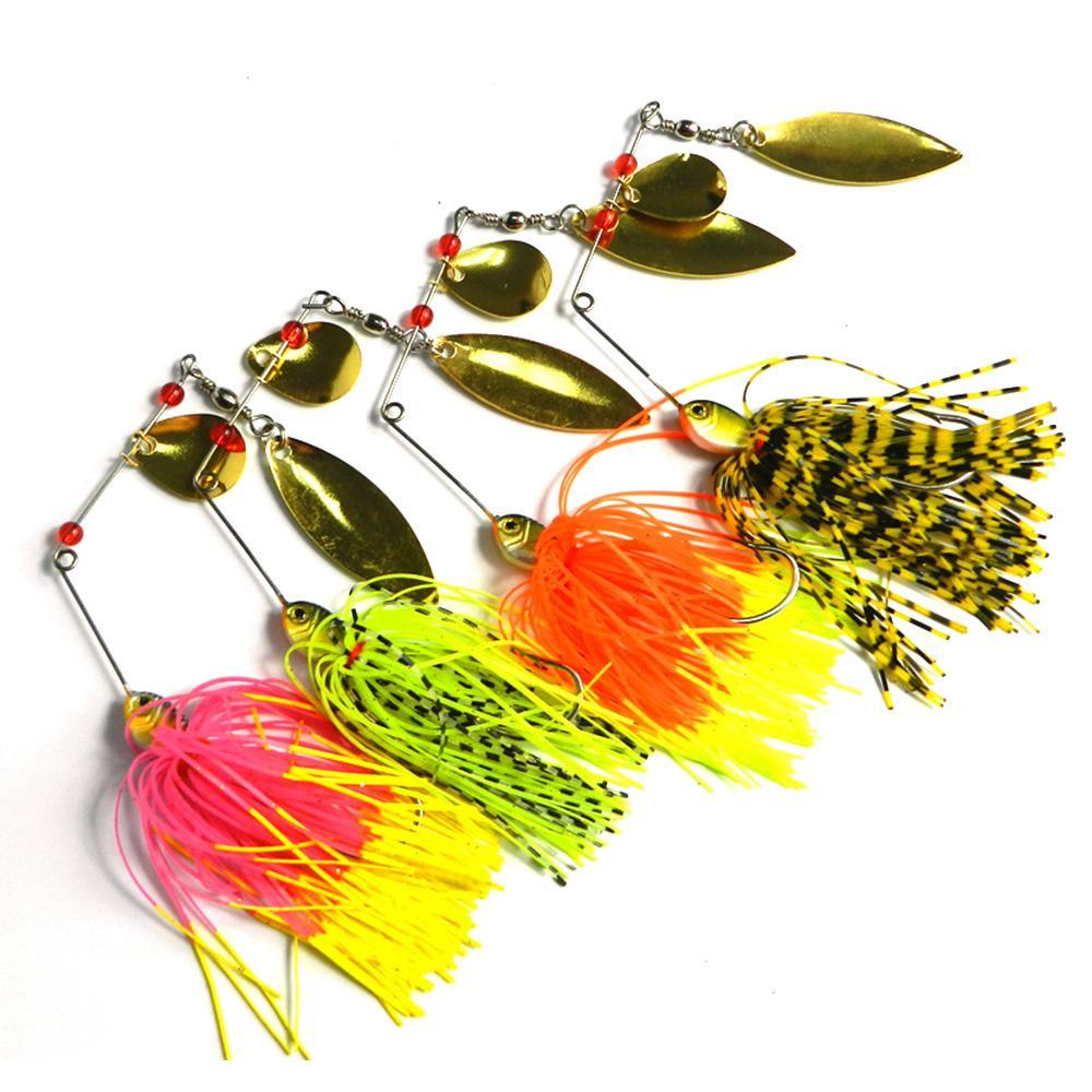 Hengjia 50 stks 14.8g 0.522oz spinner aas metalen lokken harde lokken vissen lokken goede kwaliteit spinners harde aas
