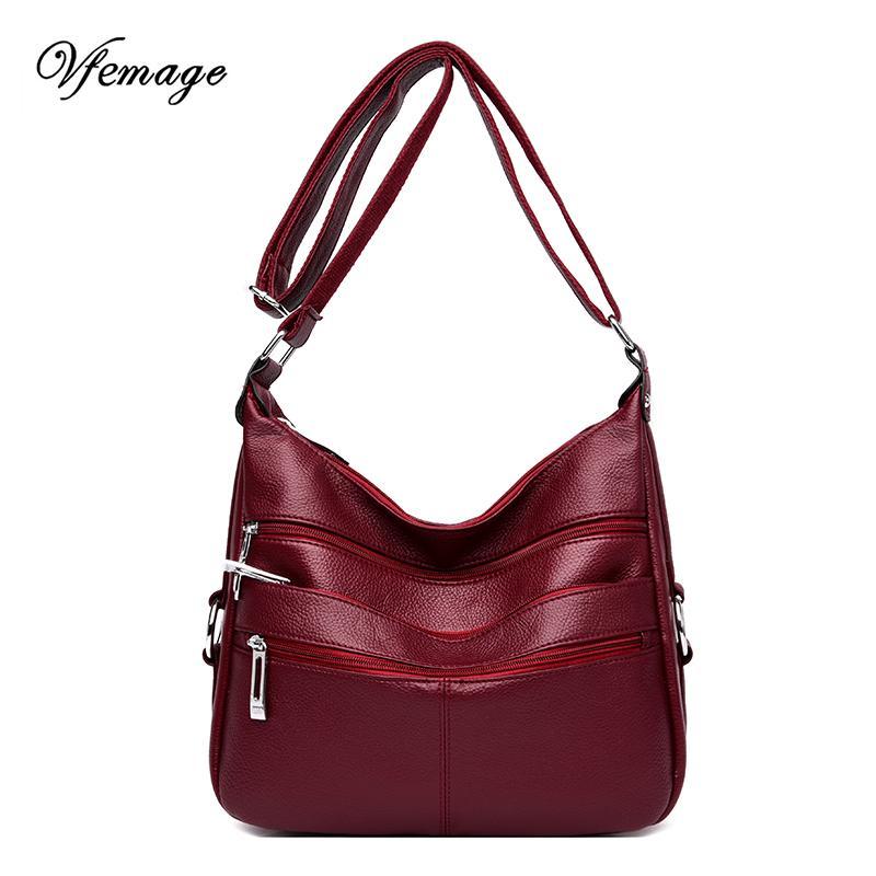 Vfemage Kadınlar Omuz Çantaları Fonksiyonlu Kadın Çantası Bayan Crossbody Çanta Yüksek Kalite Bolsa Feminina
