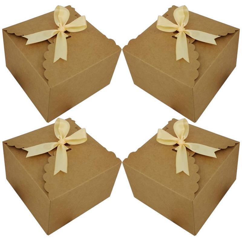 Coffrets cadeaux, Ensemble de 12 boîtes décoratives Treats, gâteau, biscuits, Goodies, Bombes main bébé Douche, Petit Coffrets cadeaux pour Chr