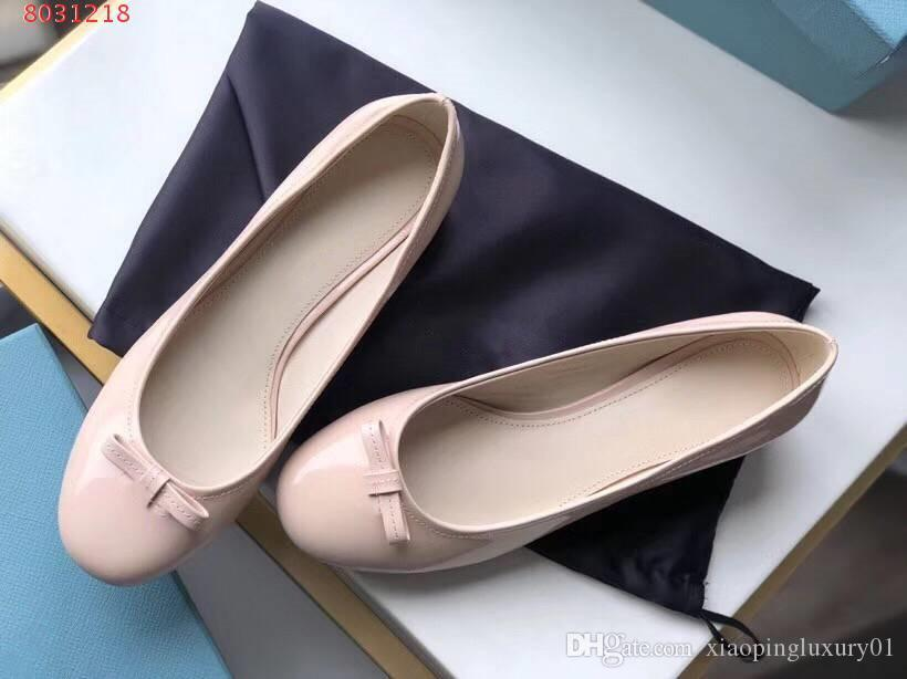 Nude pink woman Thick heel single shoes Spring fairy bow-knot Round head outsole Black blush Walking comfortably Formal wear Leisure