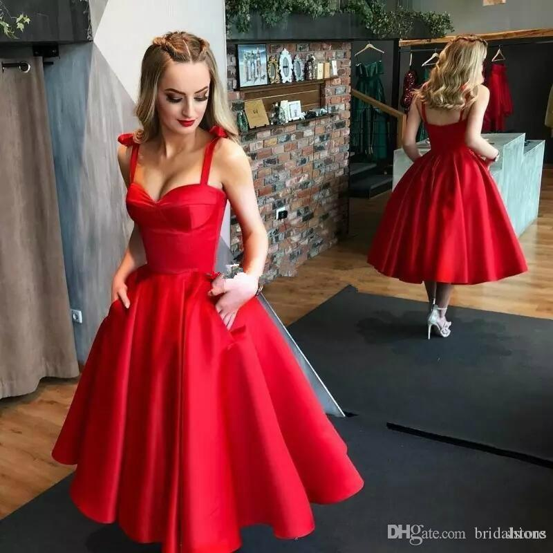 2019 New Sexy Short Ball Gown Prom Dresses Tea Length Sweetheart Short Formal Party Gowns Simple Cheap Arabic Dress China robes de bal