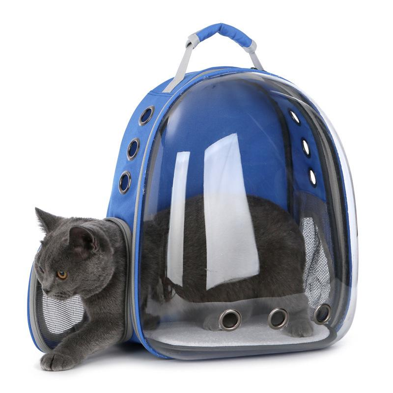 Yuyu Outdoor Cat Carrier Bag Small Dog Backpack For Kitty Puppy Chihuahua Travel Breathable Transparent Carrier Pet Bag Y19061901