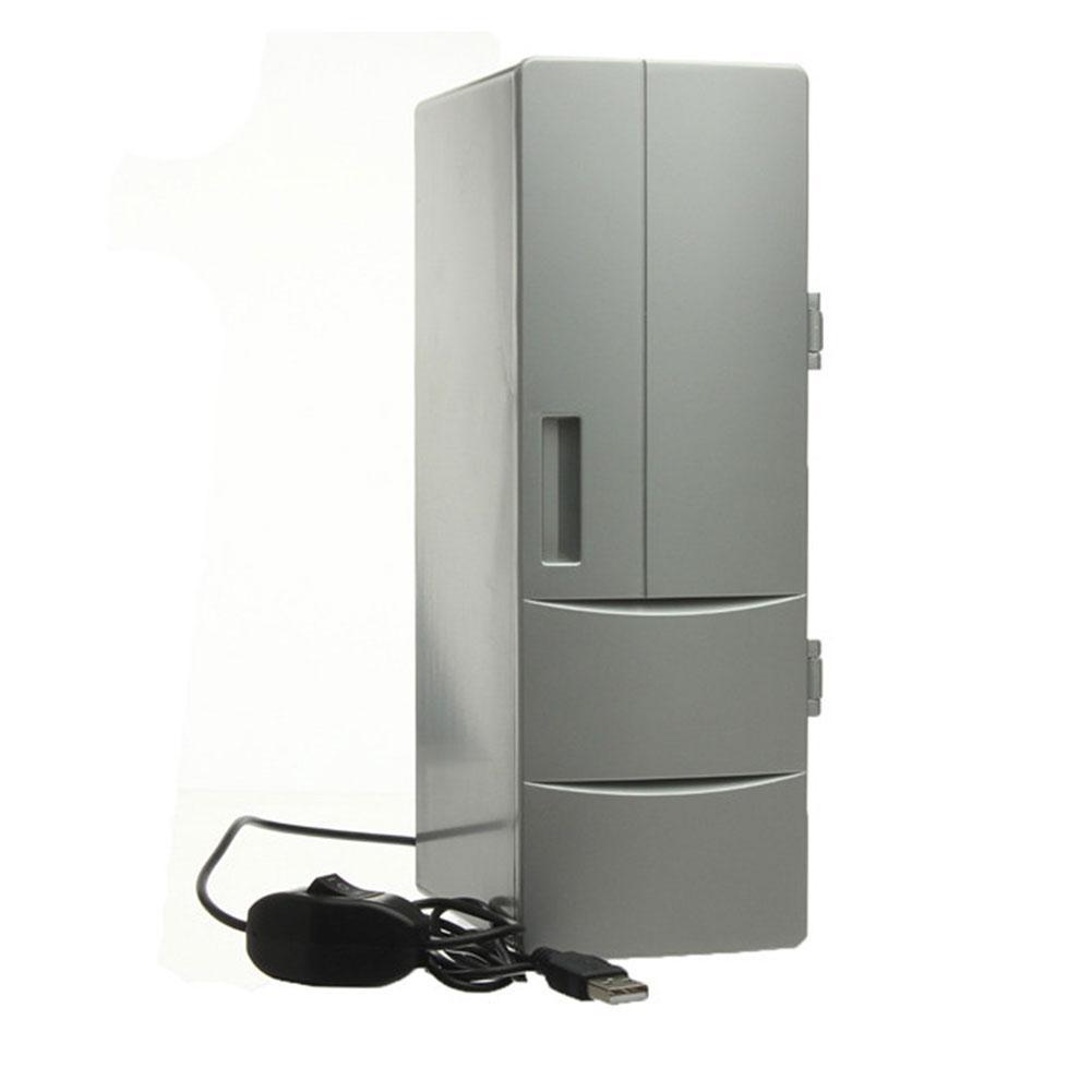 Vehemo Mini USB Cooler Warmer Réfrigérateur Bureau de refroidissement Réfrigérateur boissons Boisson Blanc