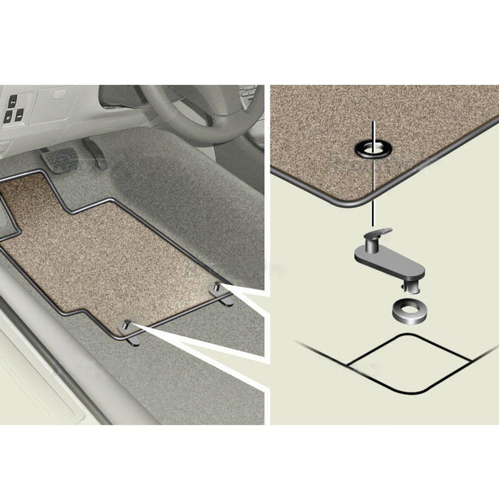 JIFFYY 4 CAR MAT Fixing Clips Floor Carpet Clips Fixing Hooks for Toyota Lexus