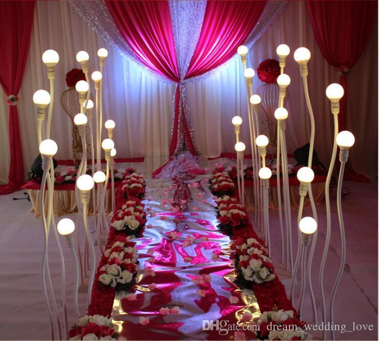 Five pillars LED wedding road leap lamp Modern Design wedding light road lead walkway lead road LED lights