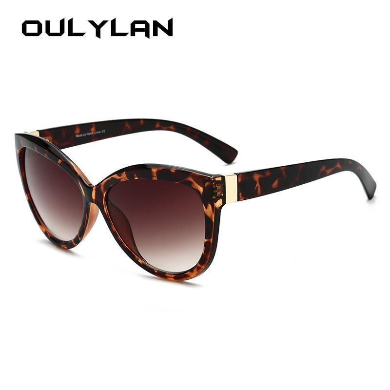 Gafas de sol de gran tamaño Oulylan Mujeres 2020 Diseño Marco de los vidrios de Sun de las señoras grandes de la vendimia gafas de sol UV400 Gafas Mujer