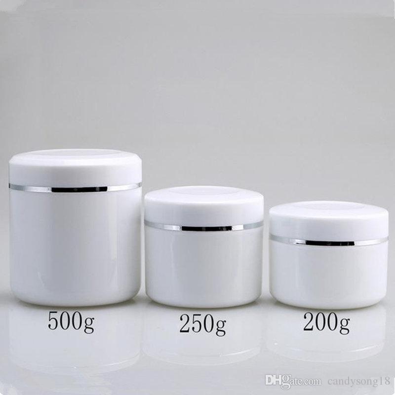 200 جرام 250 جرام 500 جرام كريم جرة ، تعبئة بلاستيكية الفرعية ماكياج ، حالة حاوية مستحضرات التجميل الفارغة ، علبة عينة قناع ، علب لوسيون F1759