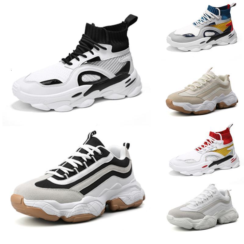TOP qualidade sapatos executando homens Chaussures respirável meias Plataforma sapatos mens treinadores do esporte do pai do vintage Sneakers 39-44 Estilo 5