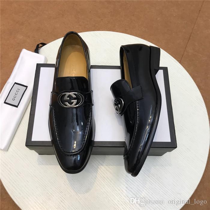 2020 de alta calidad de lujo de los hombres chica Casual de cuero genuino caminar deportes entrenador zapatillas de deporte zapatos con caja 26