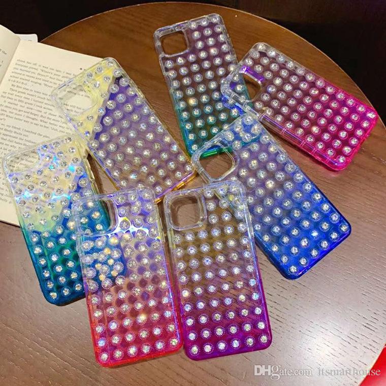Чехол градиент алмаза мобильный телефон для iPhone 11 хз ХС сотового телефона Aceessories жестко установлены случаи протектор