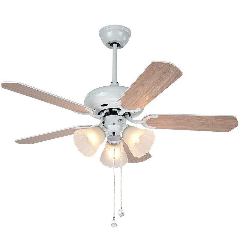 LED simple Ventilateur au plafond Lumière électrique Ventilateur Lampe suspension salle à manger Salon Chambre E27 Creative Light Retro Fan Lamp