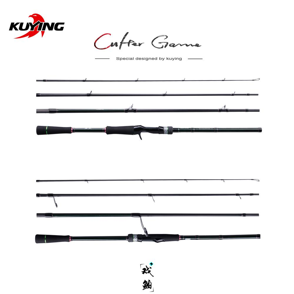 "KUYING CULTER GAME 2.49m 8'3"" Spinning Baitcasting Medium Fishing Lure Rod Cane Stick Mini Travel Rod Carbon Far Casting"