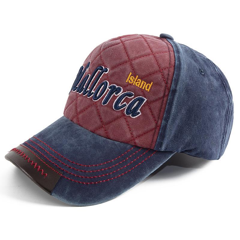 Moda Unisex Harf Nakış Beyzbol Şapka Bay Bayan Erkek Snapback Cap Ayarlanabilir Pamuk Casual Vintage Caps ve Şapka