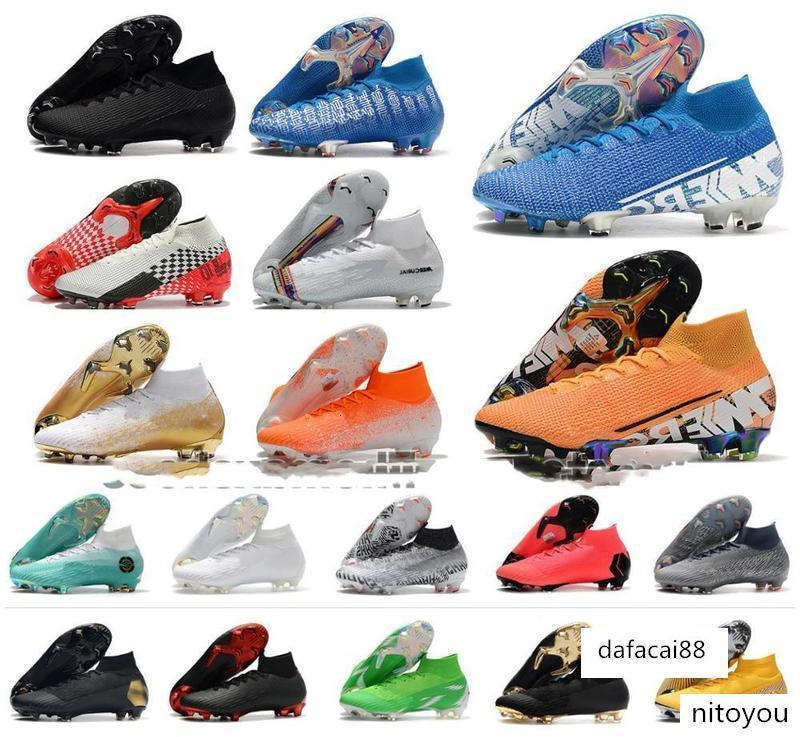 2019 Superfly VI Soccer Shoes 360 Elite FG KJ 6 XII 12 CR7 SE Ronaldo Neymar Mens Women Boys Outdor Football Boots Cleats