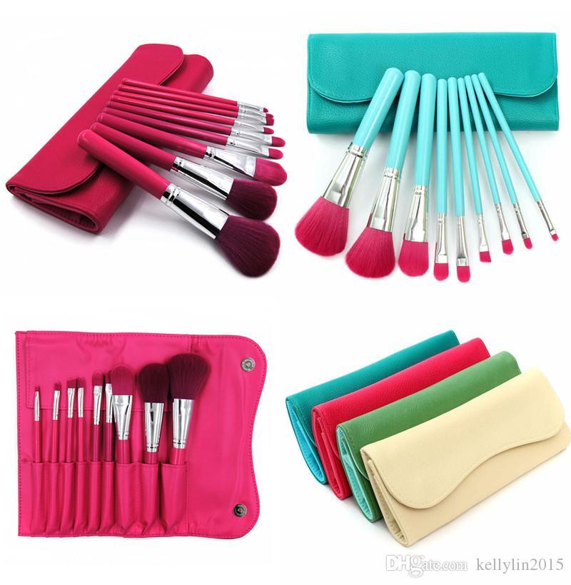 Makeup Brushes Set 9 Pcs Eyeliner Lip Brush Powder Foundation Eyeshadow Make up Brushes Tools with Cosmetic bag