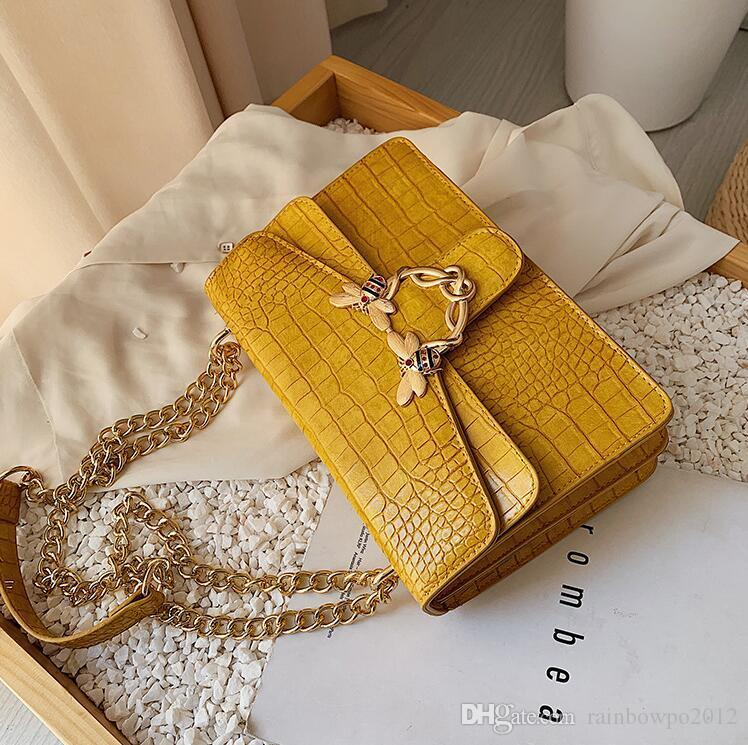 wholesale women handbag new crocodile leather chain bag sweet lady color buckle women shoulder bag foreign style leather fashion messenger b