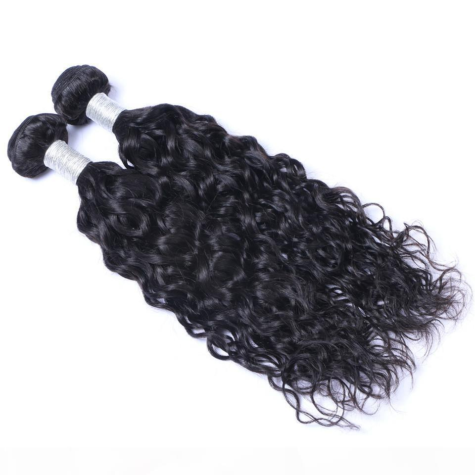 Pacotes de cabelo humano da onda de água brasileira Pacotes não processados Remy cabelo tecida Dupla WEFTS 100G Bundle 2bundle Lot Hair Extensões