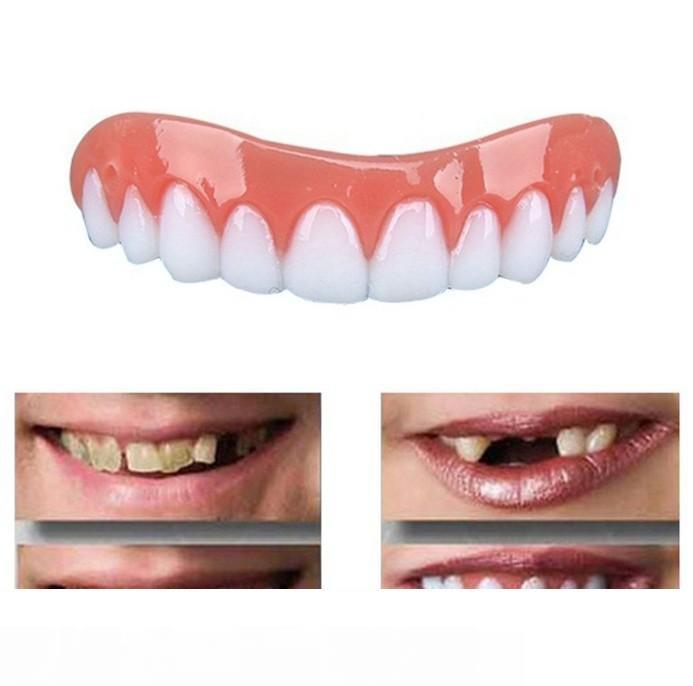 Perfect Instant Smile Comfort Fit Flex Teeth Whitening Denture Paste False Teeth Upper Cosmetic Fake Tooth Cover Beauty Tool Dentures